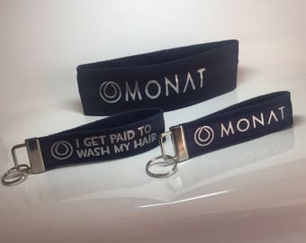 Monat key fob and headband