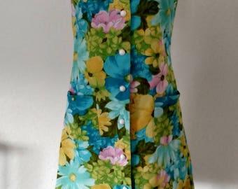 Vintage 1970's summer floral dress. Sz M