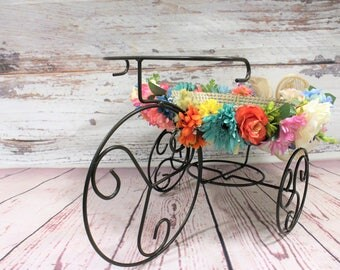 Newborn Photography Props, Iron Art Bike for Newborn, bike props, newborn iron bike, newborn flower bike