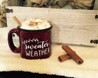 Sweater Weather Campfire Coffee Mug