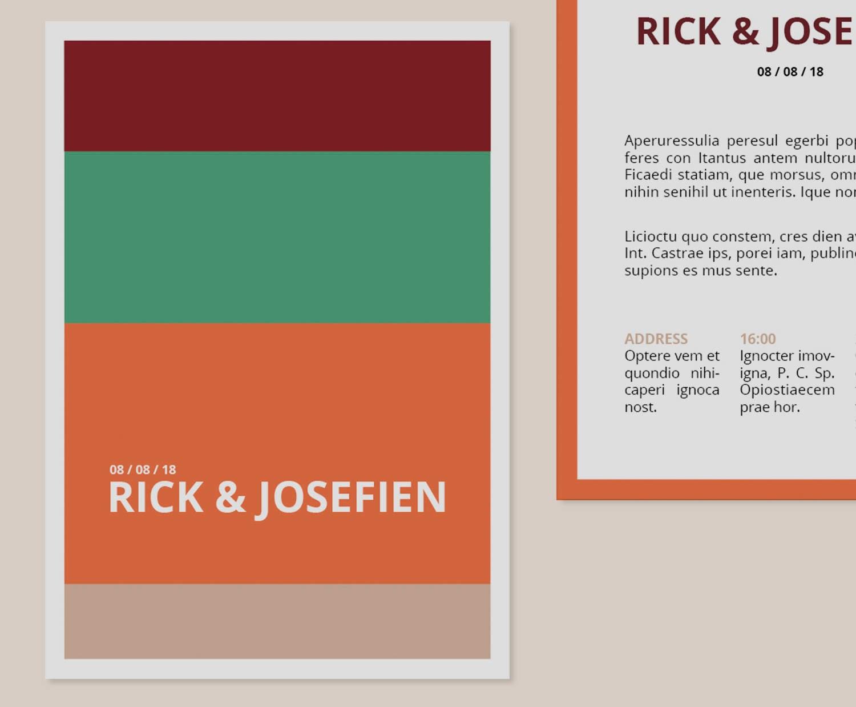 Wedding Invitation // Digital Download // Print ready // Color ...