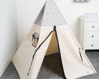 indian teepee tent, kids play tent, tipi, children teepee tent, tente indienne, tente de teepee, tents pour enfant, teepee for boy  MOON
