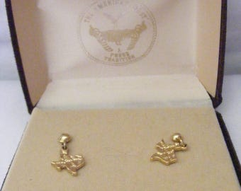 State of Texas Dangle 14 KT. GF Earrings