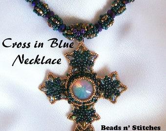 Cross in Blue Necklace