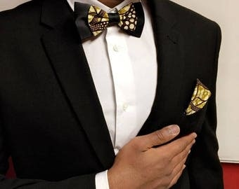 Bow tie for men Khaki / Black