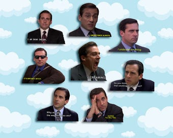 "Michael Scott Quotes Sticker Pack 8 ct 2 x 1.5"" - The Office Tv - Office Michael - Office Tv Show - Michael Scott - The Office Tv Gift"