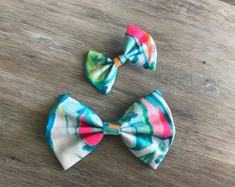 BEACH and BAE Lilly Pulitzer Fabric Bow sizes Bay