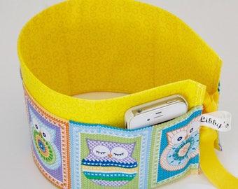 Owls Purse insert - Owl Lover's gift - Handmade Handbag organiser - Purse pockets.
