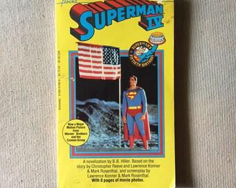 SUPERMAN IV (Paperback Novelization by B.B. Hiller)