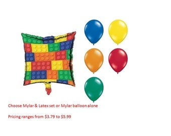 Block Party Mylar Balloons