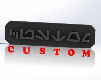 Custom Star Wars Name Plaque