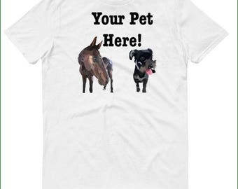 Custom Pet T-Shirt, Custom Pet Art, Pet Shirt, Dog Lover, Custom Cat, Animal Lover T-Shirt