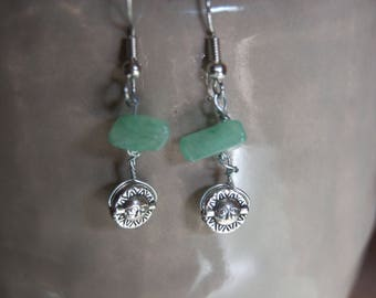 Sun or Moon Stone Earrings