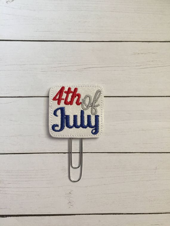 Fourth Of July Planner Clip/Planner Clip/Bookmark. Patriotic Planner Clip. 4th of July Clip. Glitter Planner Clip. Easter Planner