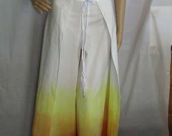 Wrap around pants-candy corn-purple rain-1970s-1980s-