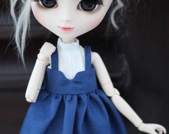 Navyblue Pullip/Blythe floral dress