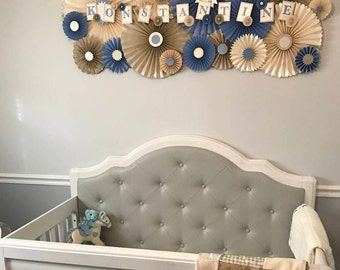 Custom Paper Fans, Home Decor, Nursery, Children's Room, Wall Decor, Gift, Paper Flowers