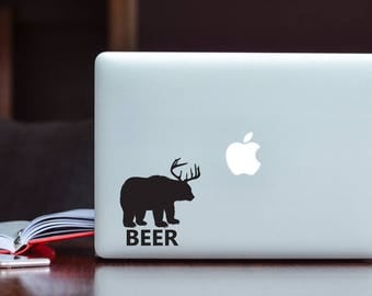 Beer Sticker Bear decal Deer decal Beer decal Car Laptop Vinyl Decal Sticker