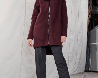 Wool coat woman / Long wool coat / Winter coat / Short coat woman / Cosy coat