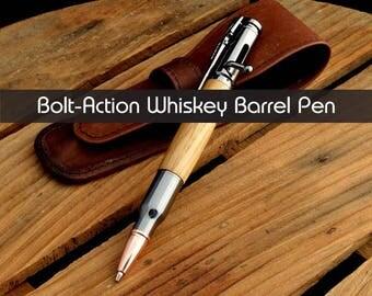 Jack Daniel's - Reclaimed Whiskey Barrel Bolt Action Pen - Engraving Available