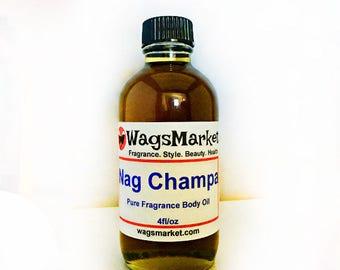 Nag Champa, 1oz Glass Bottle, Pure Fragrance Body Oil