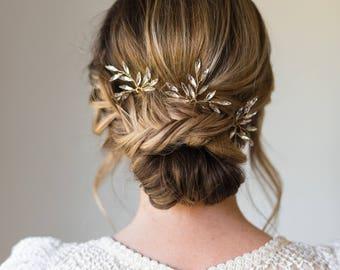 Bridal hair pins etsy branch hair pins bridal hair pins crystal hair pins wedding hair pins wedding headpiece branch hair junglespirit Gallery
