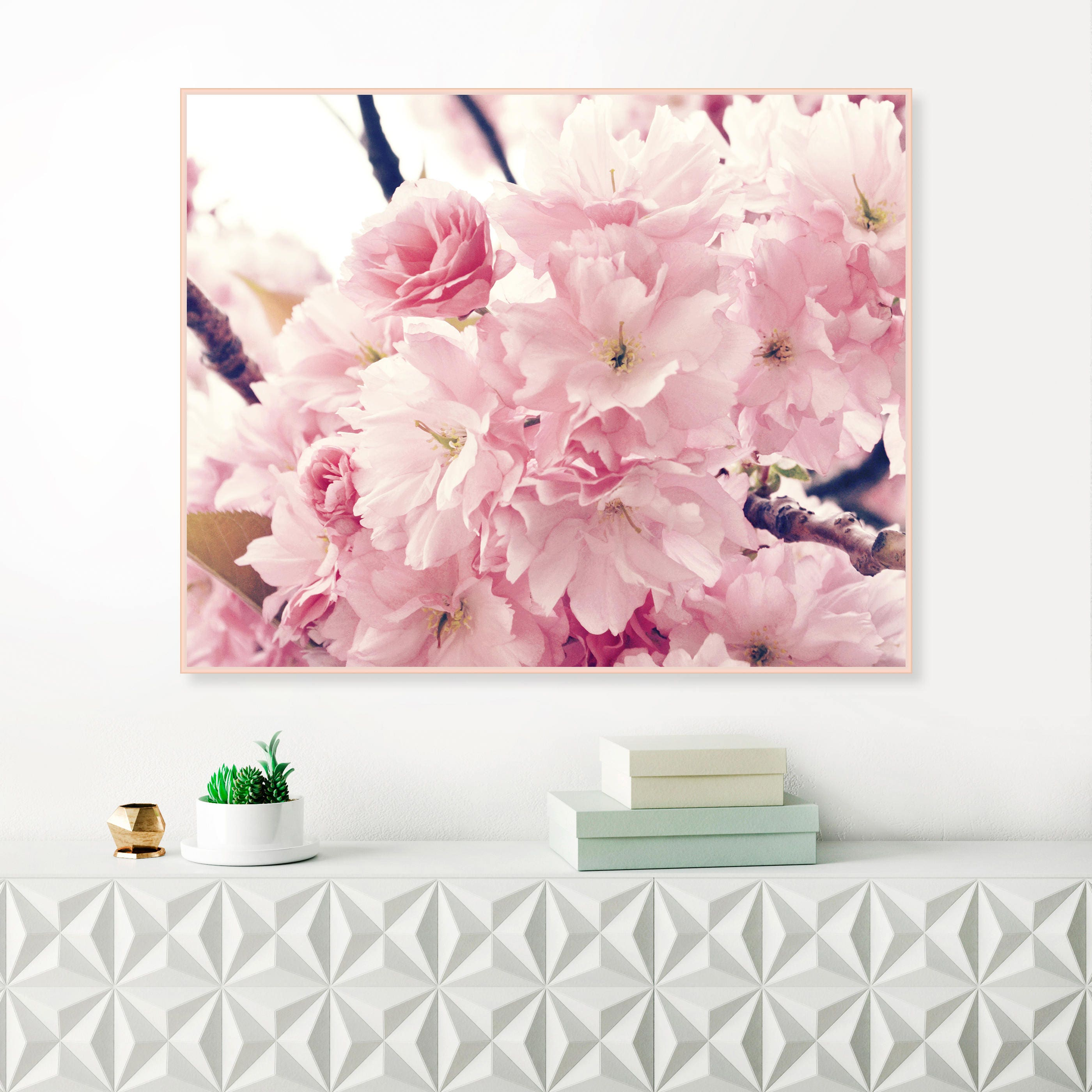 Cherry Blossom Print Pink Flower Prints Rose Quartz Art Prints