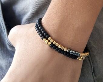 Beaded bracelet set, bracelet set, beaded bracelet stack, summer bracelet, bead bracelet women, set of bracelets, summer jewelry
