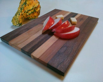 Wood Cutting Board, Walnut & Apple Wood Cutting Board, Appetizer Platter,Serving Tray