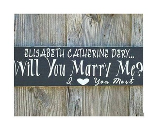 Will You Marry Me Sign - Pallet Wood Sign