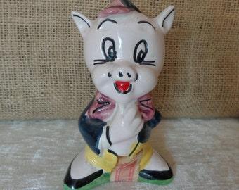 Vintage Porky Pig Decanter, Warner Bros, made in Italy