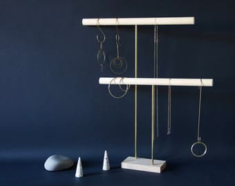 Jewelry display Tbar // Necklace Holder - Jewelry organizer // Bracelet stand - Jewelry Holder - Jewelry display - Jewelry Hanger