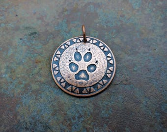 Paw Print Medallion *MADE TO ORDER*