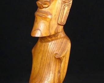 Moaï - Île de Pâques - Sculpture traditionnelle Rapa Nui en bois / Moaï - Easter Island - Traditional Rapa Nui wooden sculpture