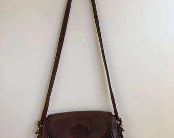 Vintage Brown Leather Purse // Handbag // Crossbody