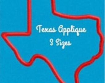 Texas Applique 3 sizes