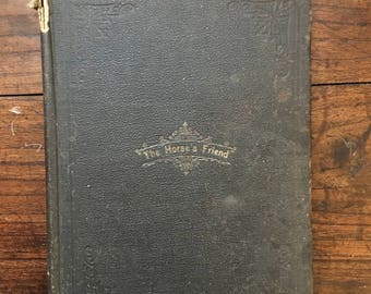 1893 THE HORSE'S FRIEND by R.J Schermerhorn antique book horse training vintage rare driving carriage riding