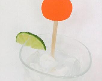 15 Halloween Stir Sticks - Pumpkin - Happy Halloween - Swizzle Sticks - Black - Scary - Haunted - Orange - Drink Stirrer - Cheers