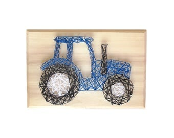 DIY Tractor deco - String art kit - Boy gift - DIY Tractor - Farmhouse sign - DIY String Art, Tractor Art