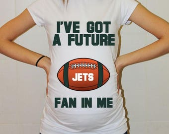 Jets Maternity Shirt New York Jets Baby Future Fan Shirt New York Football Maternity Clothing Pregnancy Shirt Baby Shower