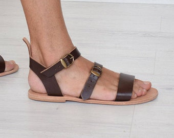 Men Sandals, Handmade Sandals, Leather Sandals, Summer Sandals, Beach Sandals, Brown Color, mens, Greek Sandals, Sparta Sandals, Flip Flops