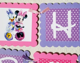 Minnie and Daisy Birthday Banner, Daisy Duck, Minnie Mouse, Daisy Birthday Banner, Minnie Mouse Birthday Banner, Daisy Banner, Minnie Banner