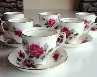 Duchess Bone China Tea Cup & Saucer, Made in England