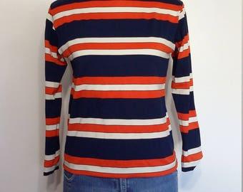 70s turtleneck, S, M, striped turtleneck, vintage 70s, 70s top, 70s turtleneck, striped top