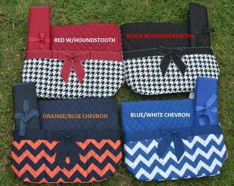 TEAM COLORS Diaper Bag, Sporty Diaper Bag, Monogrammed Diaper Bag, 3 Piece Diaper Bag Set, Quilted Diaper Bag, Personalized Baby Bag