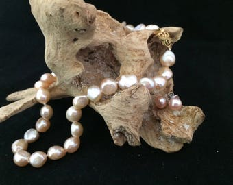 Freshwater Cultured Pearl necklace and earrings