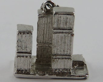 Toronto Dominion Centre Sterling Silver Vintage Charm For Bracelet