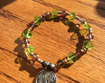 Rooted Tree of Life Diffuser Bracelet