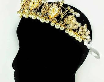 Gold & Pearl Statement Headband