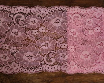 Stretch Lace - Rose Pink